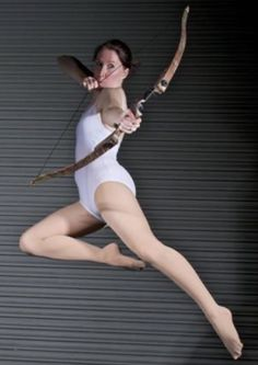 Female Archer - Pose Reference by SenshiStock on DeviantArt Action Pose Reference, Human Poses Reference, Pose Reference Photo, Reference Photos For Artists, Figure Drawing Reference, Body Reference, Gesture Drawing Poses, Drawing Body Poses, Archery Poses