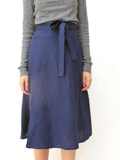 Ali Golden Wrap Skirt