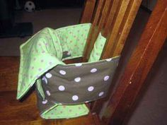 All Baby Gifts Crafts Ideas.....talk about a portable high chair.  Great idea!