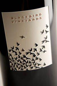 Wine from Blackbird Vineyard. So smooth. Love love love the cab