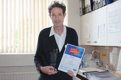 Jim Doherty - winner of the Excellence in Customer Care award. Unfortunately Jim couldn't make the ceremony so we caught him in his office. Birmingham, Awards