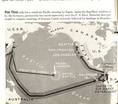 Possible invasion routes to the U.S., May 1942.