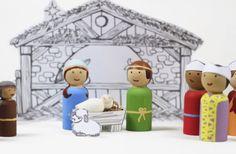 Christmas Nativity Tableau {free printable}