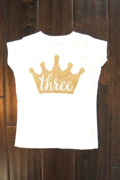 Third Birthday outfit Gold One crown for Baby by GraceandLucille