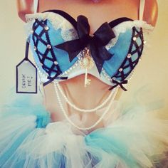 Alice in wonderland rave OUTFIT on Etsy, $115.00