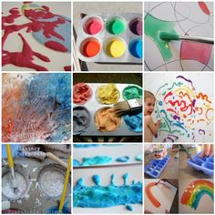 35 homemade art materials that kids can make (or help make) that encompasses everything from glitter paint to DIY stamps, feelie goop to salt dough. Some are from The Artful Parent and many are from around the web.