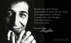 Travel Notes: Giorgio Gaber,   Milano, 25 gennaio 1939 · Montemagno di Camaiore, 1º gennaio 2003.   È stato un cantautore, commediografo, regista teatrale e attore teatrale e cinematografico italiano, considerato uno degli artisti più importanti dello spettacolo e della musica italiana ed europea del secondo dopoguerra.   https://www.facebook.com/317441628378288/photos/a.317561421699642.1073741837.317441628378288/759860217469758/?type=1&theater