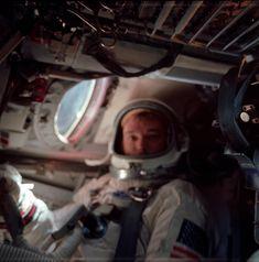 Michael Collins (Gemini 10, Apollo 11) preparing to return to earth. July 21, 1966