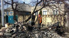 Ukraine Konflikt Zerstörung in Marinka