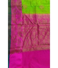 Green Banarasi Handloom Dupion Silk Saree