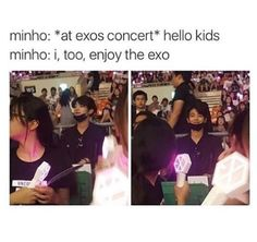 Omg no way he actually bought a ticket and went to see exo hahah