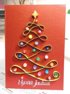 Christmas Cards, Christmas Tree, Quilling, Drop Earrings, Jewelry, Christmas E Cards, Teal Christmas Tree, Bedspreads, Jewlery
