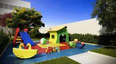 As crianças podem se divertir com total segurança no playground do Terrazzo Limeira.
