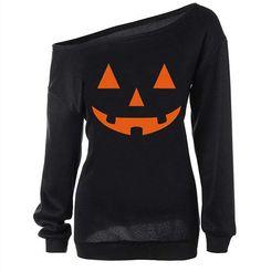 Lymanchi Women Slouchy Shirts Halloween Pumpkin Long Sleeve Pullover Sweatshirts Black L: Size Detail:(cm/inch)br Tag Size----------------Length--------------------Bustbr Slouchy Shirt, Pullover Shirt, Sweater Shirt, Hoodie Sweatshirts, Halloween Sweatshirt, Halloween Cookies, Halloween Party, Halloween Christmas, Halloween Costumes