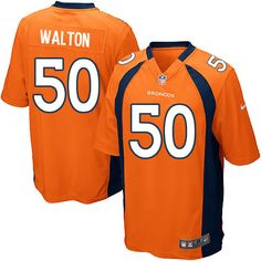 Men's Nike Denver Broncos #50 J.D. Walton Limited Orange Team Color NFL Jersey Sale