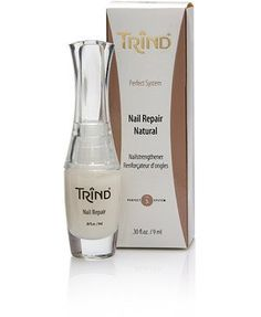 Trind Nail Repair Natural Trind Nail Repair is an incredibly effective nail strengthener that will not yellow or dehydrate your nails. Its unique formula reinforces the connection between the protein molecules in your fingernails to make them strong and flexible. Restore your weak and damaged nails to their natural beauty using Trind Nail Repair Natural.  Check out our nail care here: https://www.trindshop.ca/collections/cuticle-nail-treatments/products/trind-nail-repair-natural