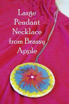make a large pendant #necklace #diy #accessory brassyapple.com