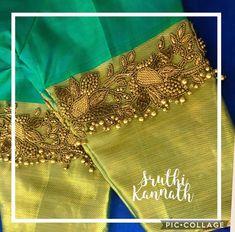 Latest saree blouse designs for 2018 that will amaze you - ArtsyCraftsyDad Wedding Saree Blouse Designs, Pattu Saree Blouse Designs, Blouse Designs Silk, Designer Blouse Patterns, Pattern Blouses For Sarees, Latest Saree Blouse Designs, Designer Saree Blouses, Simple Blouse Designs, Stylish Blouse Design