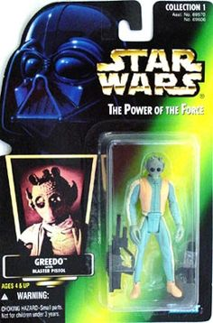 STAR WARS : Costumes and Toys : Star Wars Action Figure - Greedo - with Blaster Pistol - POTFG