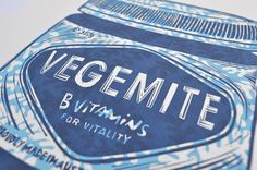 'Vegemite – Blue' is a limited edition, hand made and original lino print. Inspired by Andy Warhol's Brillo boxes, Campbell's Soup cans and Coke bottle screen prints, I decided to have a go at making a print of the iconic Australian Vegemite jar!  I drew the Vegemite image first, then the background swirling leaves second. Each of these drawings are transferred onto the lino block prior to carving. The print was created by carefully hand carving the design onto the surface of the lino…