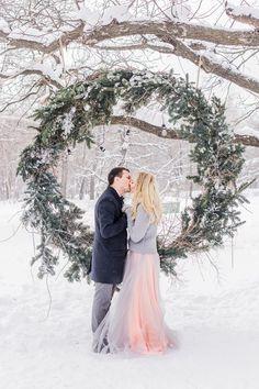 Потрясающая зимняя церемония! Фотограф Антонова Алла, декор Луконина Лилия