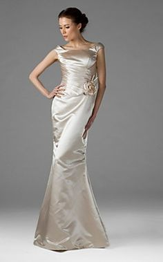 Trumpet/Mermaid Square Floor-length Satin Bridesmaid/Wedding... – EUR € 107.24