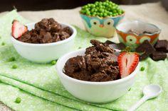 Brownie Batter Soft Serve Ice Cream WITHOUT BANANAS -- secretingredient  dairyfree  browniebatter