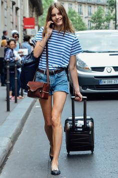 model off duty in the streets of Paris