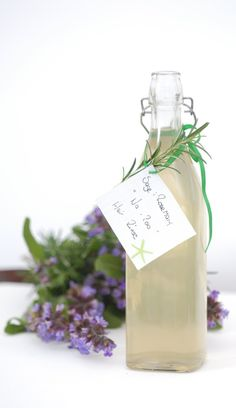 """Rosemary & Sage Hair Rinse - It is spring her in Australia at the moment and my garden is going crazy, so I am always looking for creative ideas to use all the flowers & herbs. I have a heap of rosemary and sage, so I thought I would try a """"no-poo"""" hair rinse, personally I love this version that I have created. I would love for you to try it and let me know your version or how soft and silky it left your hair."""