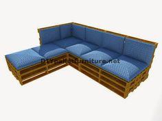 Muebles de palets: Guía paso a paso para hacer fácilmente un sofá chaise-long con palets enteros