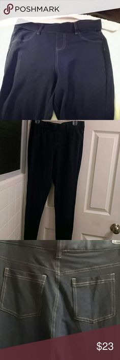 MILK leggings Very dark blue... Elastic waist...BNWT.. Wonderfully soft MILK Pants Leggings