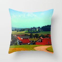 Peaceful farmland on a sunny afternoon Throw Pillow by patrickjobst Sunny Afternoon, Sunnies, Peace, Throw Pillows, Toss Pillows, Sunglasses, Cushions, Decorative Pillows, Shades