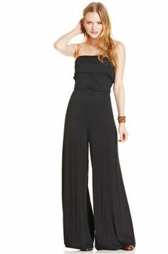 American Rag Strapless Wide-Leg Jumpsuit on shopstyle.com