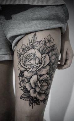 50 Sexy Oberschenkel Tattoos für Frauen | http://www.berlinroots.com/sexy-oberschenkel-tattoos-fur-frauen/                                                                                                                                                     Mehr