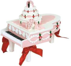 Imagine the piano blue. and the ribbons white. This is my wedding cake.