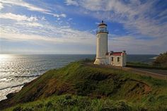 North Head Lighthouse at Cape Disappointment State Park in Washington state ...National Lighthouse Day 8/7/14