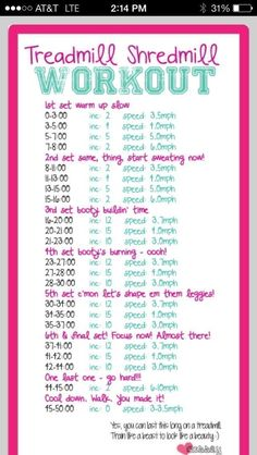 Treadmill Shredmill Workout-50mins on the treadmill