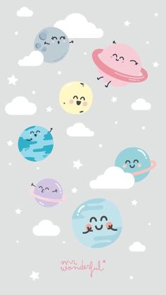 (notitle) iPhone X Wallpaper 297096906664159505 Planets Wallpaper, Wallpaper Space, Kawaii Wallpaper, Pastel Wallpaper, Galaxy Wallpaper, Cartoon Wallpaper, Screen Wallpaper, Cute Wallpaper Backgrounds, Wallpaper Iphone Cute