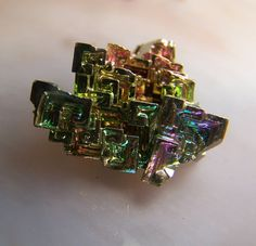 Bismuth specimen  mineral  crystal  wire wrap by CoyoteRainbow