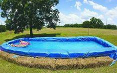 Hay bale pool