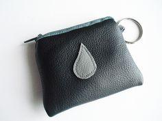 Schlüsselanhänger Geldbörse Leder von erdbeerloni auf DaWanda.com