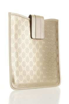 Gucci iPad Case In Gold
