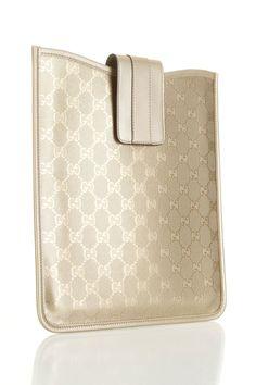 Gucci iPad Case In Gold