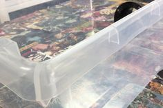 Dust Free Sanding Using a Storage Container : 15 Steps (with Pictures) - Instructables Woodworking Jigs, Woodworking Projects, Diy Sanding, Camper Hacks, Painters Tape, Diy Arts And Crafts, Vacuum Forming, Storage Containers, I Shop