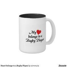 Heart belongs to a Rugby Player Classic White Coffee Mug