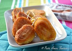 Corn Dogs con Wurstel di Salmone, finger food
