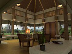 r l m g: modern bahay kubo Modern Filipino Interior, Modern Filipino House, Bahay Kubo Design Philippines, Philippines House Design, Modern Tropical House, Tropical House Design, Tropical Houses, Interior House Colors, Modern Interior Design