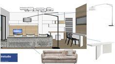 Elementi d'arredo e rivestimenti in legno di rovere creano interni accoglienti e luminosi adatti alla quotidianità di una giovane famiglia.