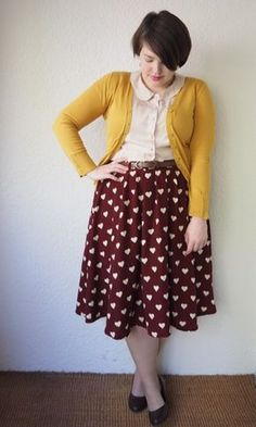 Knock off of modcloths breath taking tiger lilies skirt