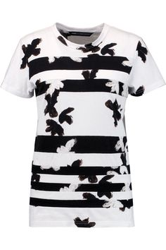 MARC BY MARC JACOBS Printed paneled cotton T-shirt. #marcbymarcjacobs #cloth #t-shirt